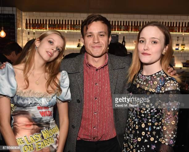 Greta Bellamacina Barney White and Jaclyn Bethany attend a screening of short films 'Indigo Valley' and 'The Last Birthday' at Shortwave Cinema on...