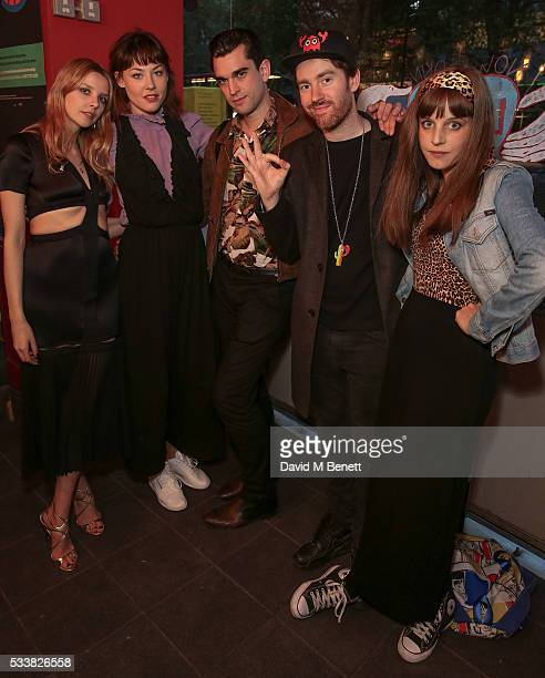 Greta Bellamacina Martine Wervik James D Kelly Philippe Colbert and Charlotte Colbert attend a drink reception celebrating the UK Premiere of The...