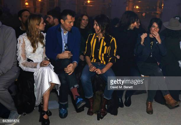 Greta Bellamacina Robert Montgomery Katy England Bobby Gillespie and Sue Webster attend the Gareth Pugh show during the London Fashion Week February...