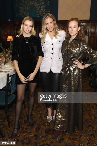 Greta Bellamacina Sally Matthews and Sasha Sarokin attend The Modist Dinner at L'oscar Hotel on June 18 2018 in London England