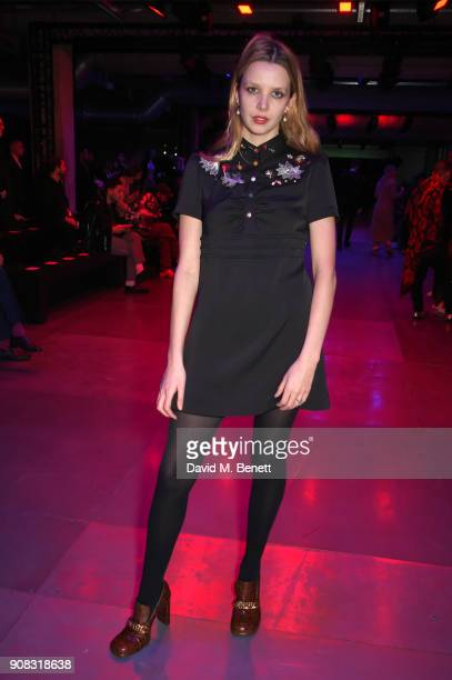 Greta Bellamacina wearing Paul Smith attends the Paul Smith AW18 Men's and Women's Show on January 21 2018 in Paris France