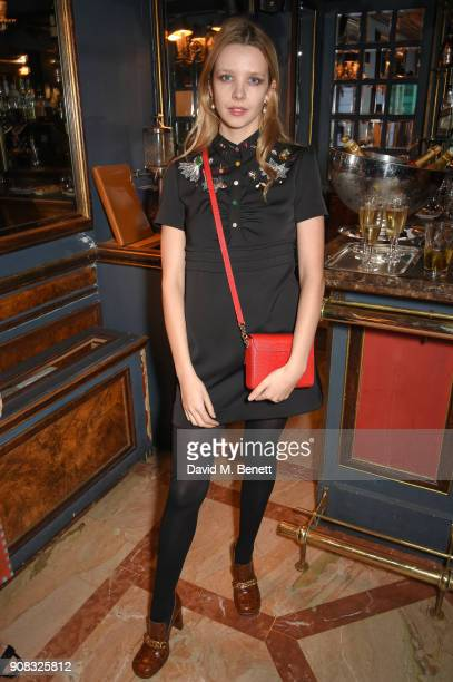 Greta Bellamacina wearing Paul Smith attends the Paul Smith Malgosia Bela AW18 Lunch on January 21 2018 in Paris France