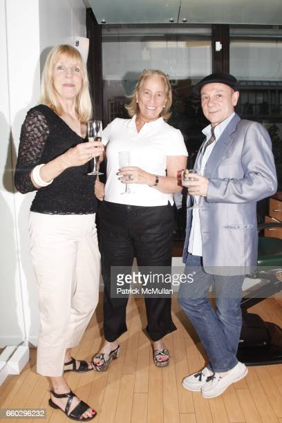 Greta Carlstrom, Jo Machinist and Carlos Merlo attend RODOLFO VALENTIN'S Salon & Spa Preview Party at 694 Madison Avenue on June 15, 2009 in New York...