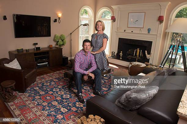 Greta De Keyser and Bart Vandaele's House Party photographed at their home in Alexandria Virginia on September 05 2014