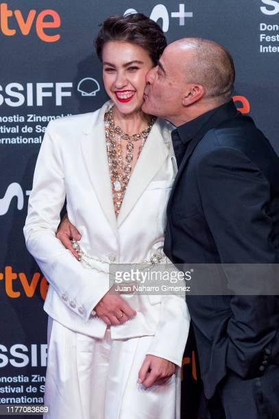 Greta Fernandez and Eduard Fernandez attend 'La Hija De Un Ladron' premiere during 67th San Sebastian International Film Festival on September 25...