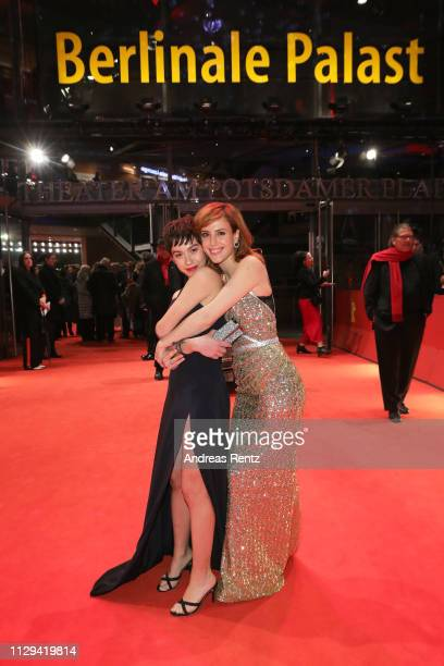 Greta Fernandez and Natalia de Molina attend the Elisa Y Marcela premiere during the 69th Berlinale International Film Festival Berlin at Berlinale...