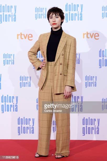 Greta Fernandez attends 'Dolor y Gloria' premiere at the Capitol cinema on March 13 2019 in Madrid Spain