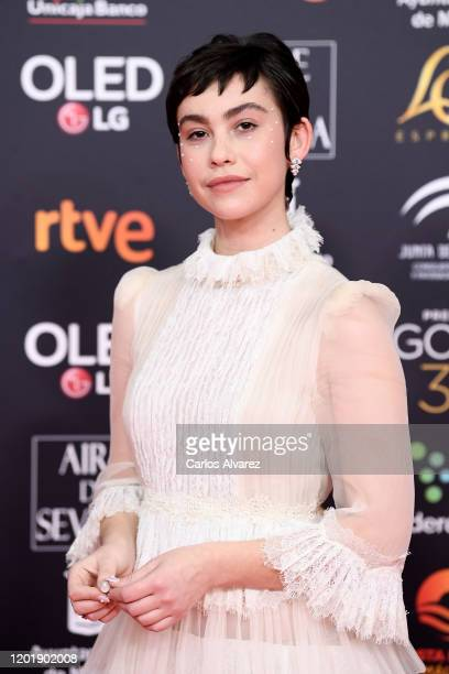 Greta Fernandez attends the Goya Cinema Awards 2020 during the 34th edition of the Goya Cinema Awards at Jose Maria Martin Carpena Sports Palace on...