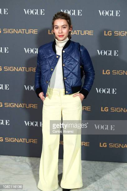 Greta Fernandez attends 'Vogue LG Signature' photocall at Carlos Maria de Castro Palace on December 13 2018 in Madrid Spain