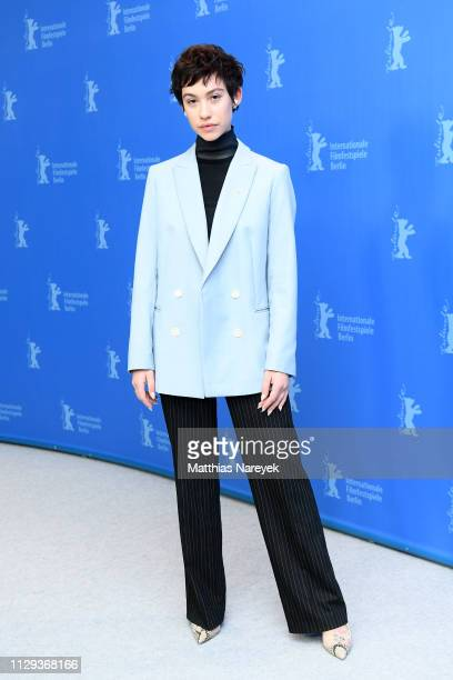 Greta Fernandez poses at the photocall for the Netflix film Elisa Y Marcela during the 69th Berlinale International Film Festival Berlin at Grand...