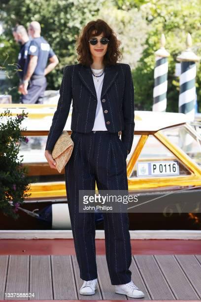 Greta Ferro is seen arriving at the 78th Venice International Film Festival on September 01, 2021 in Venice, Italy.
