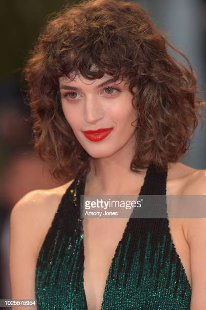 Greta Ferro walks the red carpet ahead of the 'A Star Is Born' screening during the 75th Venice Film Festival at Sala Grande on August 31 2018 in...