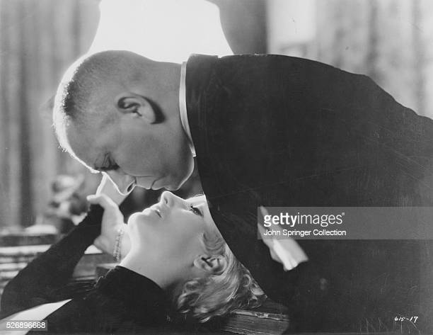 Greta Garbo and Erich von Stroheim in a scene from the 1932 drama As You Desire Me