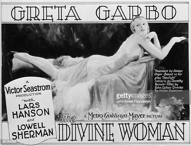 Greta Garbo stars in 'The Divine Woman' a romantic drama directed by Victor Seastrom and costarring Lars Hanson and Lowell Sherman The movie is based...