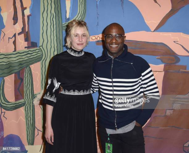 Greta Gerwig and Barry Jenkins attend the Telluride Film Festival 2017 on September 1 2017 in Telluride Colorado