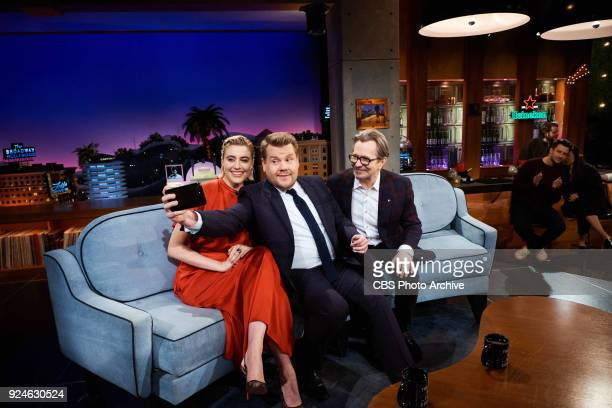 Greta Gerwig and Gary Oldman chat with James Corden during 'The Late Late Show with James Corden' Thursday February 22 2018 On The CBS Television...