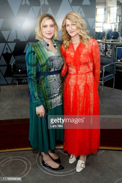 Greta Gerwig and Laura Dern attend the Academy of Motion Picture Arts Sciences' Women's Initiative New York luncheon in partnership with E...