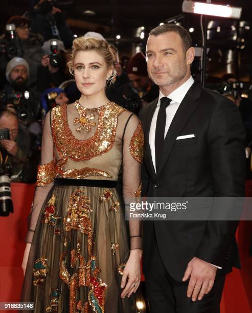Greta Gerwig and Liev Schreiber attend the Opening Ceremony 'Isle of Dogs' premiere during the 68th Berlinale International Film Festival Berlin at...