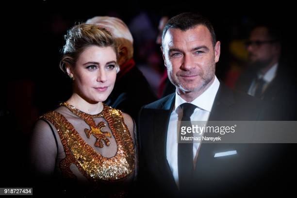 Greta Gerwig and Liev Schreiber during the 68th Berlinale International Film Festival Berlin at on February 15 2018 in Berlin Germany