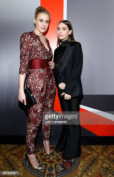 Greta Gerwig and Lykke Li attend The New Museum Annual Spring Gala at Cipriani Wall Street on April 1 2014 in New York City