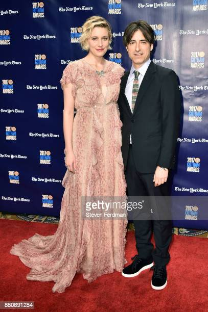 Greta Gerwig and Noah Baumbach attend IFP's 27th Annual Gotham Independent Film Awards at Cipriani Wall Street on November 27 2017 in New York City