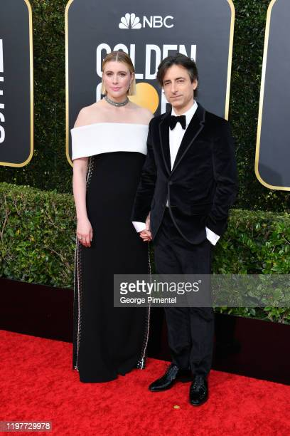 Greta Gerwig and Noah Baumbach attend the 77th Annual Golden Globe Awards at The Beverly Hilton Hotel on January 05 2020 in Beverly Hills California