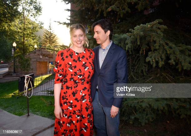 Greta Gerwig and Noah Baumbach attend the Telluride Film Festival 2019 on September 1st 2019 in Telluride Colorado