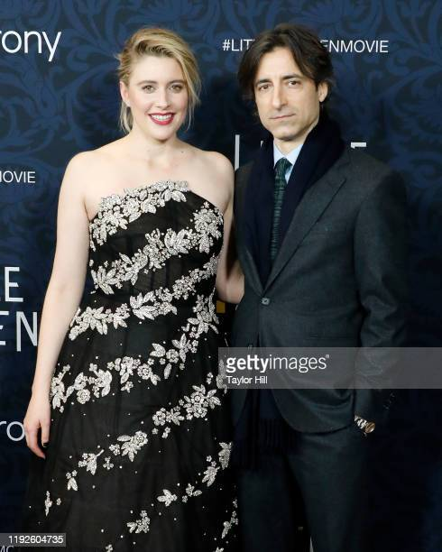 Greta Gerwig and Noah Baumbach attend the world premiere of Little Women at Museum of Modern Art on December 07 2019 in New York City