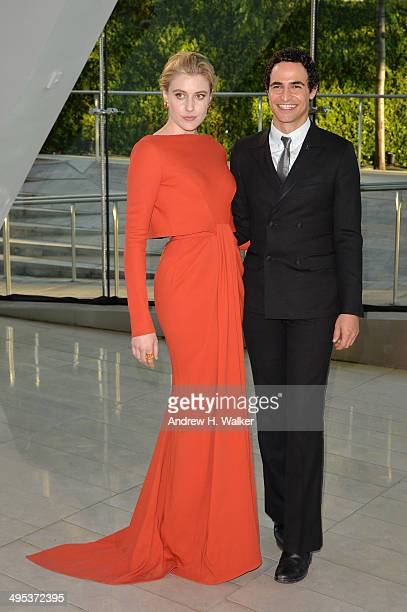 Greta Gerwig and Zac Posen attend the 2014 CFDA fashion awards at Alice Tully Hall Lincoln Center on June 2 2014 in New York City