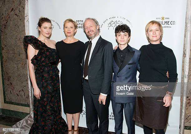 Greta Gerwig Annette Bening Mike Mills and Lucas Jade Zumann attend the 2016 New York Stage and Film Winter Gala at The Plaza Hotel on December 4...