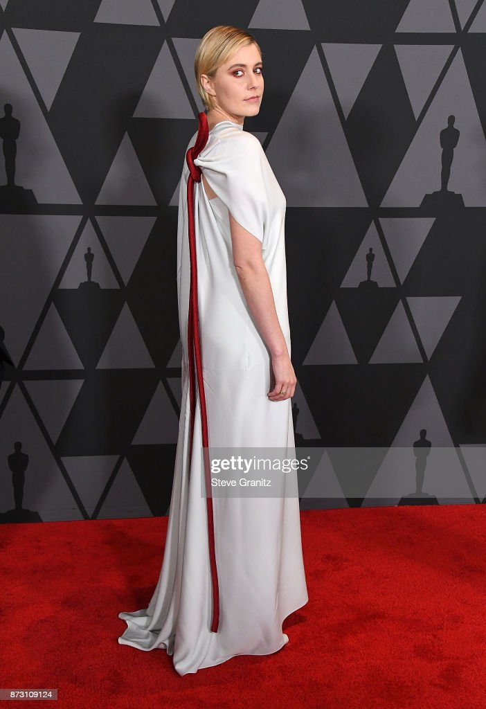 Greta Gerwig arrives at the Academy Of Motion Picture Arts And Sciences' 9th Annual Governors Awards at The Ray Dolby Ballroom at Hollywood & Highland Center on November 11, 2017 in Hollywood, California.