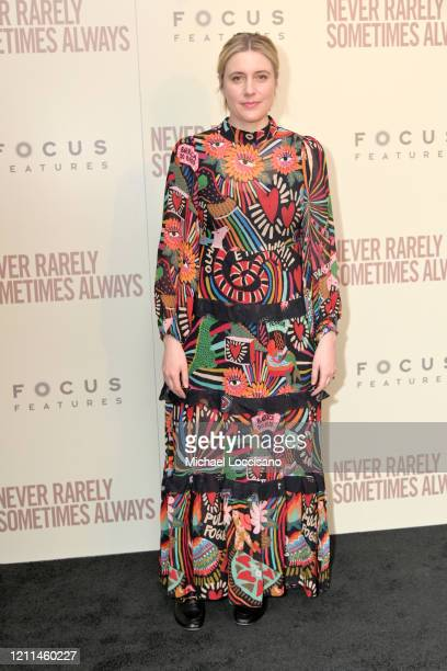 Greta Gerwig attends a New York screening of Never Rarely Sometimes Always at Metrograph on March 09 2020 in New York City