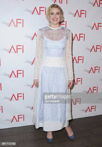 Greta Gerwig attends the 18th Annual AFI Awards at the Four Seasons Hotel on January 5 2018 in Los Angeles California