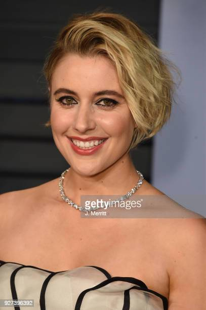 Greta Gerwig attends the 2018 Vanity Fair Oscar Party hosted by Radhika Jones at the Wallis Annenberg Center for the Performing Arts on March 4 2018...