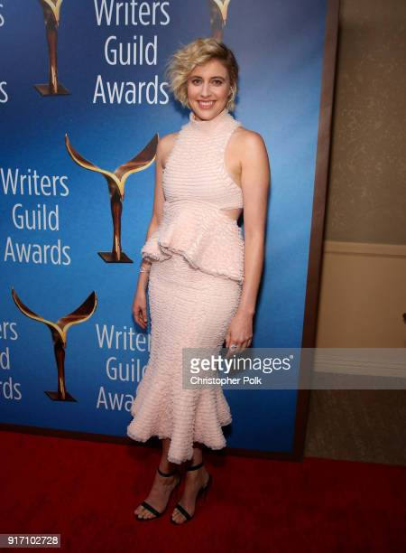 Greta Gerwig attends the 2018 Writers Guild Awards LA Ceremony at The Beverly Hilton Hotel on February 11 2018 in Beverly Hills California