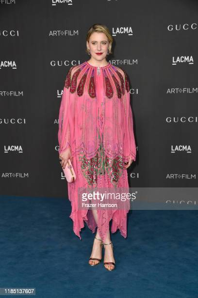 Greta Gerwig attends the 2019 LACMA 2019 Art Film Gala Presented By Gucci at LACMA on November 02 2019 in Los Angeles California