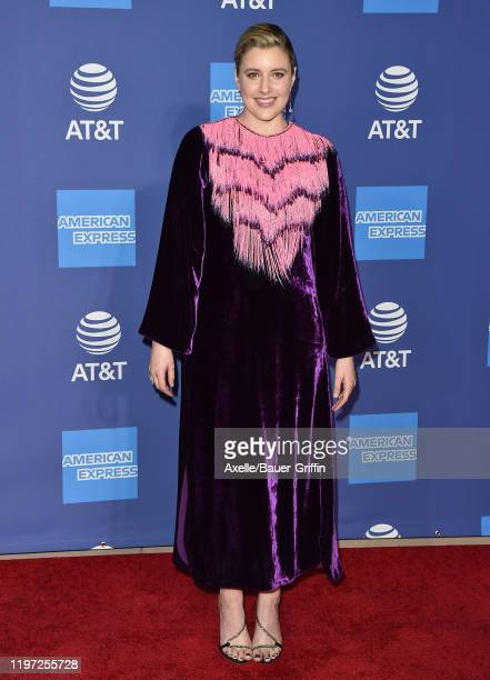 Greta Gerwig attends the 2020 Annual Palm Springs International Film Festival Film Awards Gala on January 02 2020 in Palm Springs California