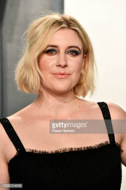 Greta Gerwig attends the 2020 Vanity Fair Oscar Party hosted by Radhika Jones at Wallis Annenberg Center for the Performing Arts on February 09 2020...