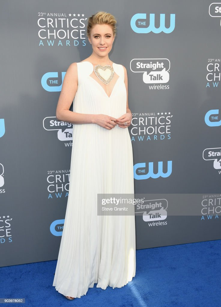 Greta Gerwig attends The 23rd Annual Critics' Choice Awards at Barker Hangar on January 11, 2018 in Santa Monica, California.