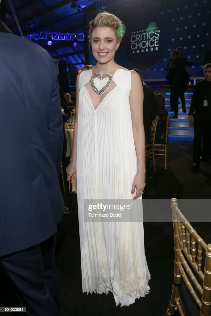 Greta Gerwig attends the 23rd Annual Critics' Choice Awards on January 11, 2018 in Santa Monica, California.