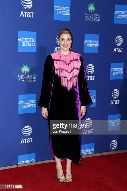 Greta Gerwig attends the 31st Annual Palm Springs International Film Festival Film Awards Gala at Palm Springs Convention Center on January 02 2020...