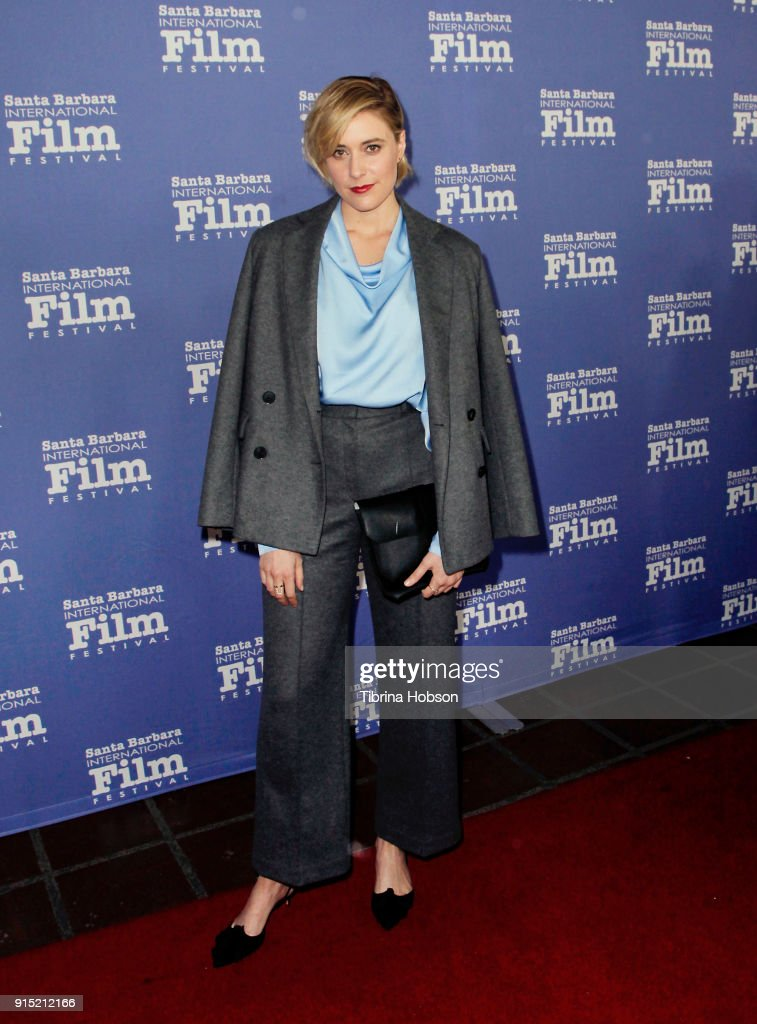 Greta Gerwig attends the 33rd annual Santa Barbara International Film Festival outstanding directors of the year presentation at Arlington Theatre on February 6, 2018 in Santa Barbara, California.