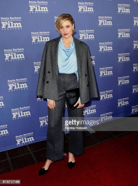 Greta Gerwig attends the 33rd annual Santa Barbara International Film Festival outstanding directors of the year presentation at Arlington Theatre on...
