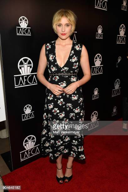 Greta Gerwig attends the 43rd Annual Los Angeles Film Critics Association Awards on January 13 2018 in Los Angeles California