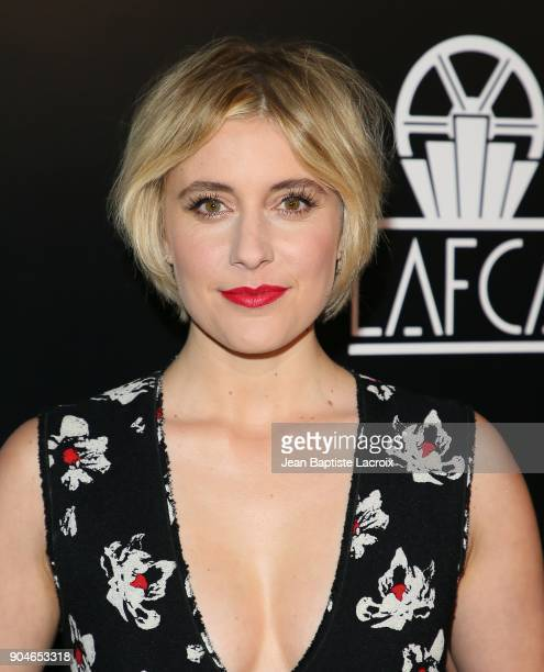 Greta Gerwig attends the 43rd Annual Los Angeles Film Critics Association Awards on January 13 2018 in Hollywood California
