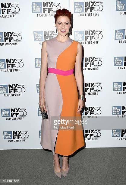 Greta Gerwig attends the 53rd New York Film Festival Maggie's Plan Arrivals at Alice Tully Hall Lincoln Center on October 4 2015 in New York City