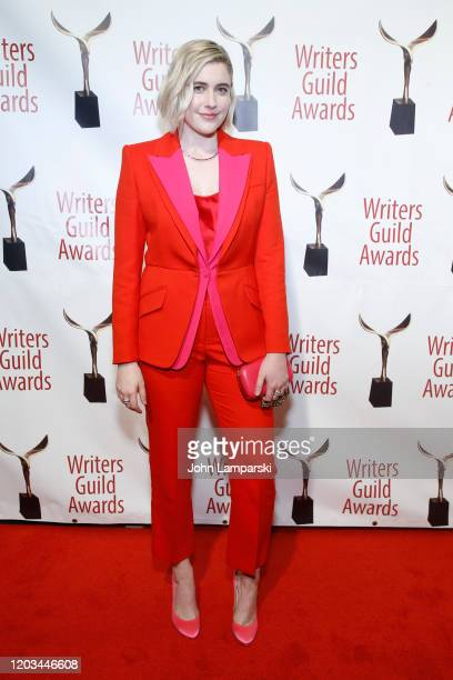 Greta Gerwig attends the 72nd Annual Writers Guild Awards at Edison Ballroom on February 01, 2020 in New York City.
