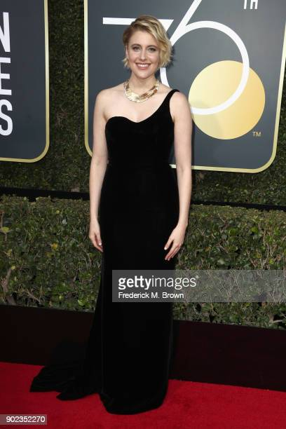 Greta Gerwig attends The 75th Annual Golden Globe Awards at The Beverly Hilton Hotel on January 7 2018 in Beverly Hills California