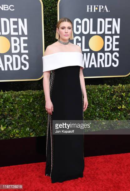 Greta Gerwig attends the 77th Annual Golden Globe Awards at The Beverly Hilton Hotel on January 05, 2020 in Beverly Hills, California.