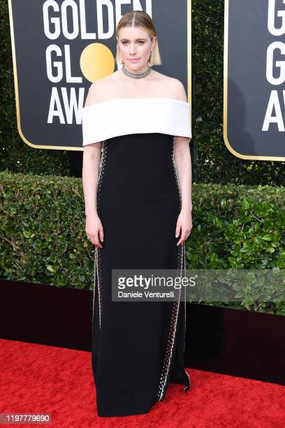 Greta Gerwig attends the 77th Annual Golden Globe Awards at The Beverly Hilton Hotel on January 05 2020 in Beverly Hills California